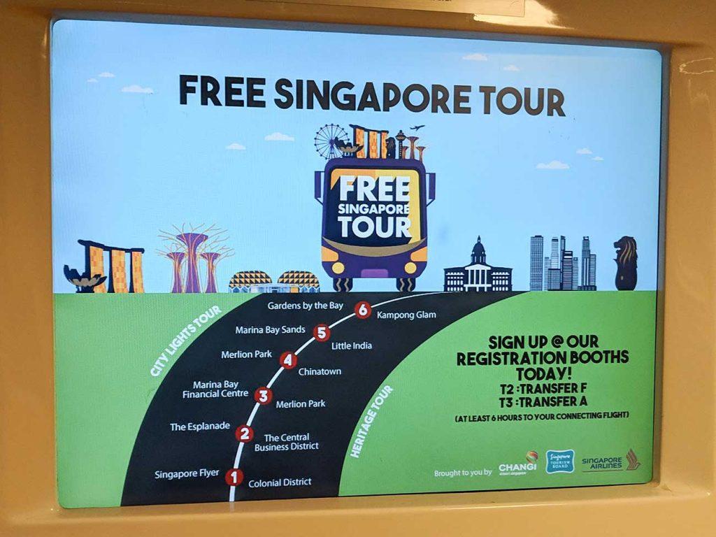 Singapore Changi Airport: Free Singapore Tour