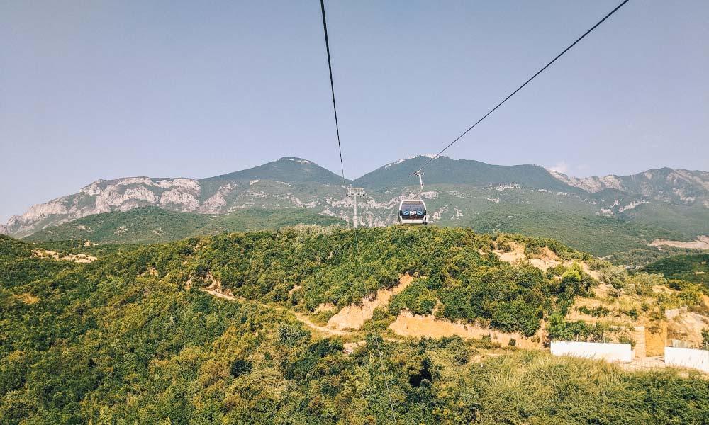 Gondola up Mount Dajti in Tirana, Albania