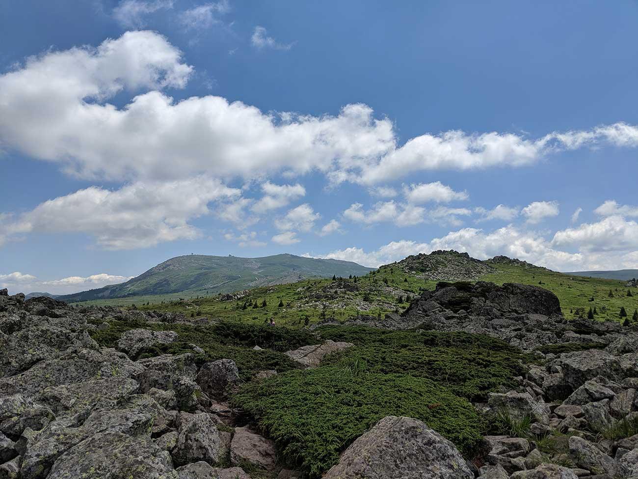View of Vitosha Mountain summit