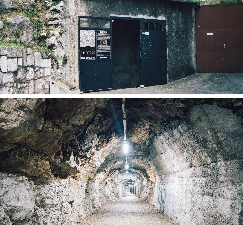 Tunnels under Rijeka built by the Italians