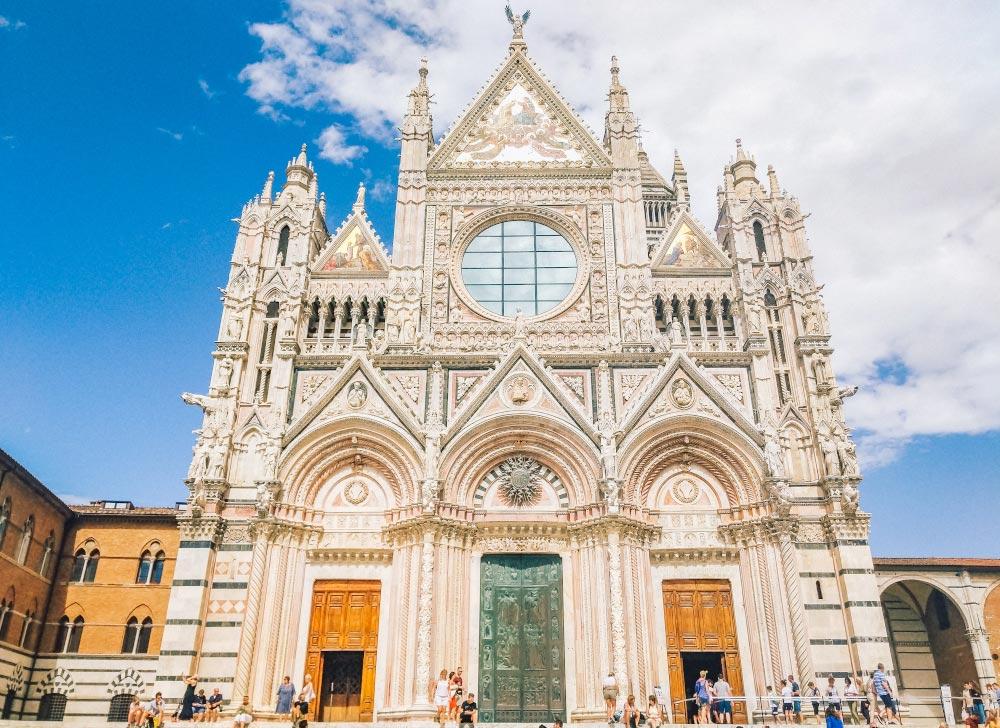 Facade of Duomo in Siena