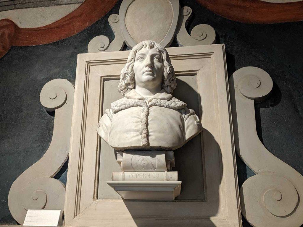Bust of Nicolaus Copernicus in Torun, Poland