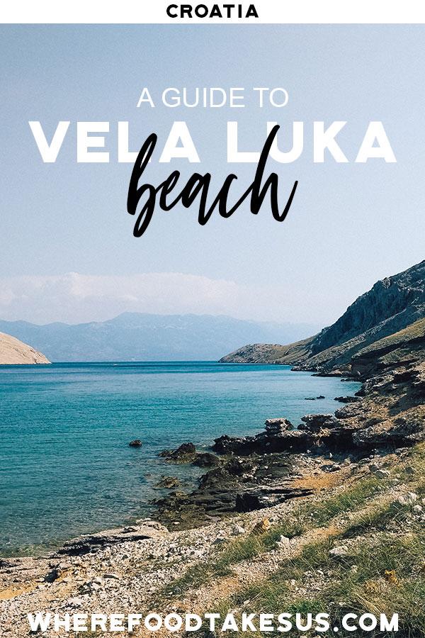 Pin of Vela Luka beach in Croatia