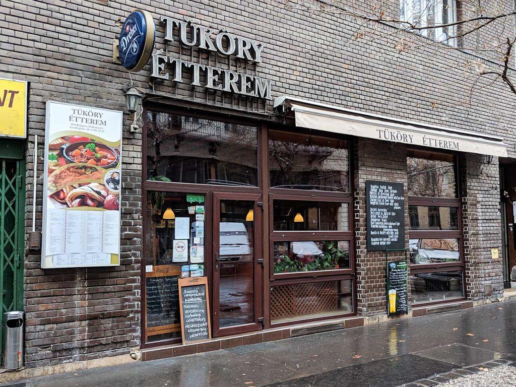 Budapest Restaurants: Tüköry Étterem outside