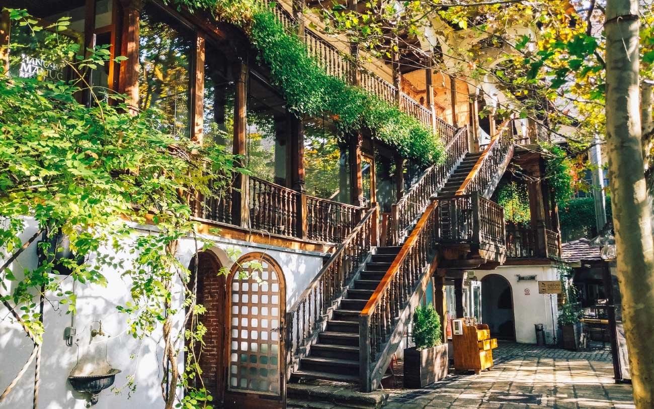 Courtyard Area of Restaurant Hanu' lui Manuc in Bucharest