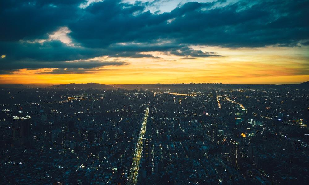 View of Taipei from the top of Taipei 101