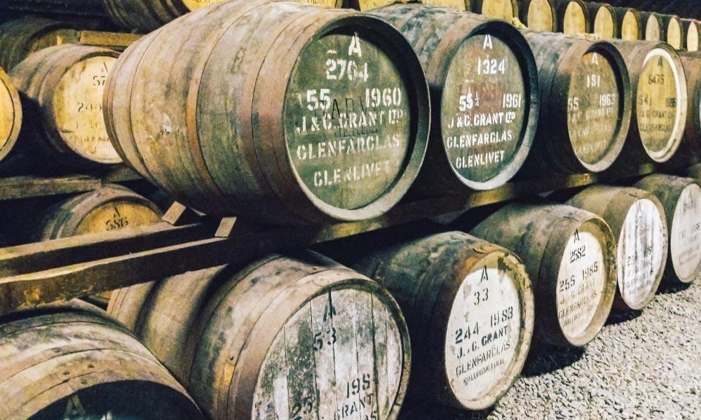 Glenfarclas Whisky aging barrels