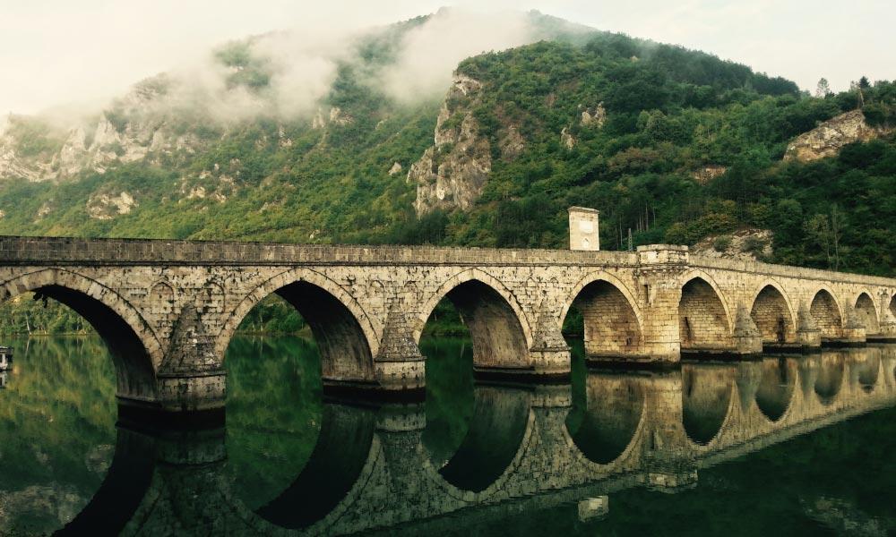 Old bridge in Višegrad, Bosnia and Herzegovina